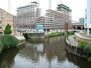 The canal joins with the Aire & Calder Navigation in Leeds