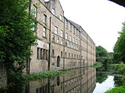 Old canalside buildings at Kirkstall
