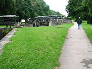 Uphill walk at Forge 3 locks (No.10-8)