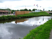 New housing development between the canal and the M61