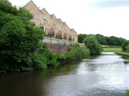 New housing on the canal bank just past Cowling Bridge