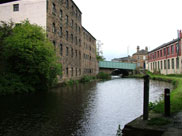 Old canalside buildings close to Manchester Road