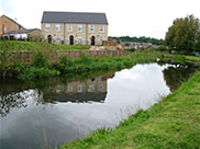New stone-built canalside housing