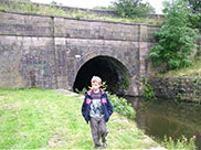 Dan at the other side of Gannow Tunnel